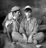Afghan youths in tea house